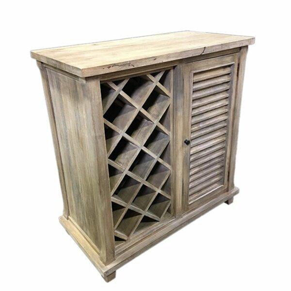 Irvings Durable Wooden Floor Wine Rack by Rosecliff Heights