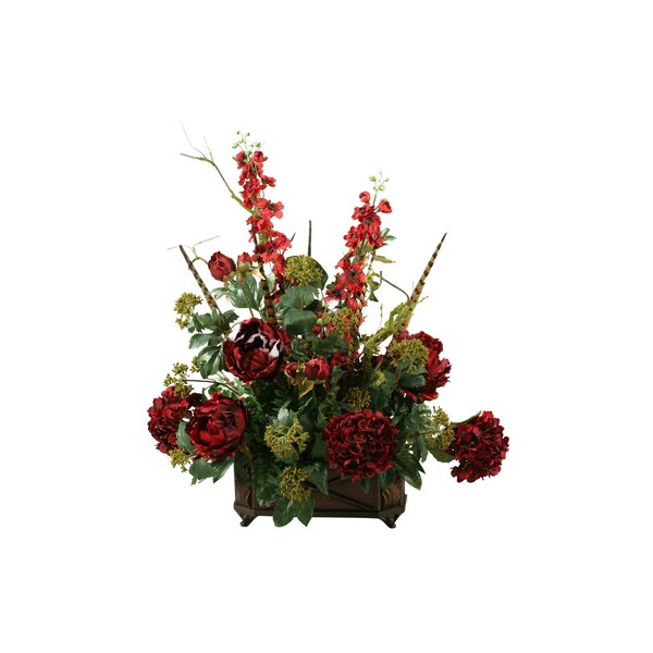 Mixed Floral Arrangement in Planter by Astoria Grand