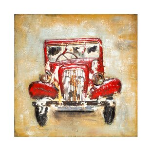 Vintage Antique Car Wall Decor  sc 1 st  Wayfair & Vintage Car Metal Wall Art | Wayfair