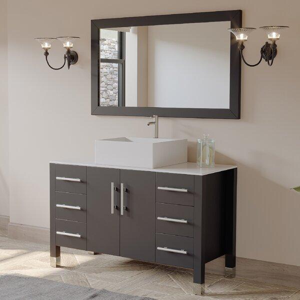 Jessa '' Bathroom Vanity Set with Mirror 47 Single Bathroom Vanity Set with Mirror
