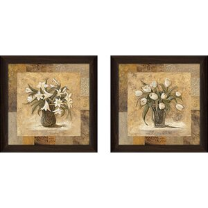 Gold Mine' 2 Piece Framed Acrylic Painting Print Set Under Glass by Fleur De Lis Living