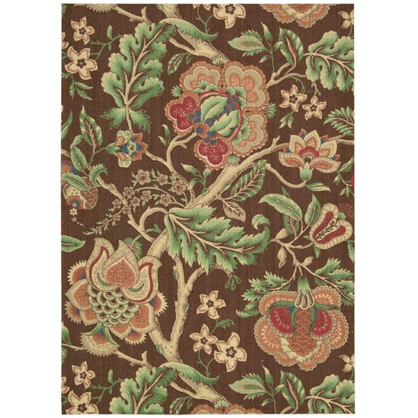 Global Awakening Imperial Dress Chocolate/Brown/Green Area Rug by Waverly