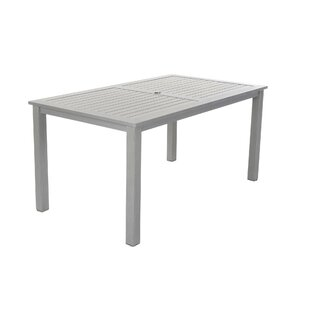 Patio Dining Tables Youll Love Wayfair - White metal outdoor dining table