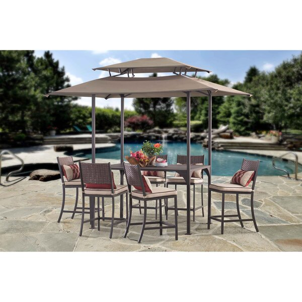 Peacocksplume 7 Piece Dining Set with Cushions by Bay Isle Home