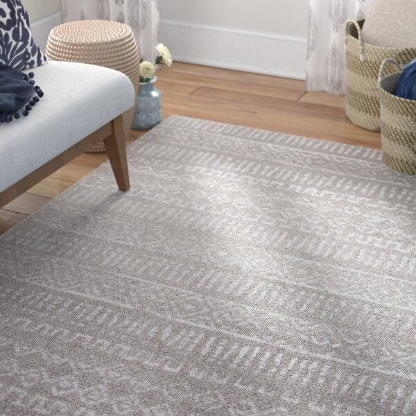 Bremen Gray Area Rug by Bungalow Rose