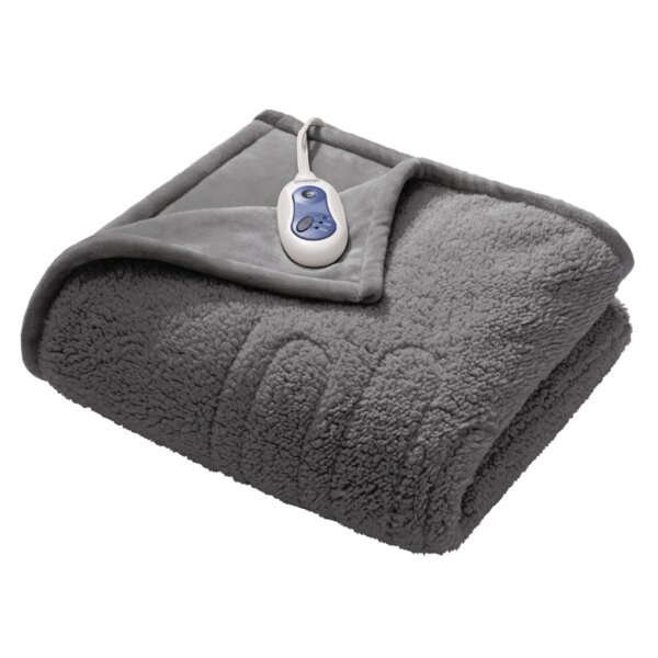 Microlight Reverse Heated Throw by Beautyrest