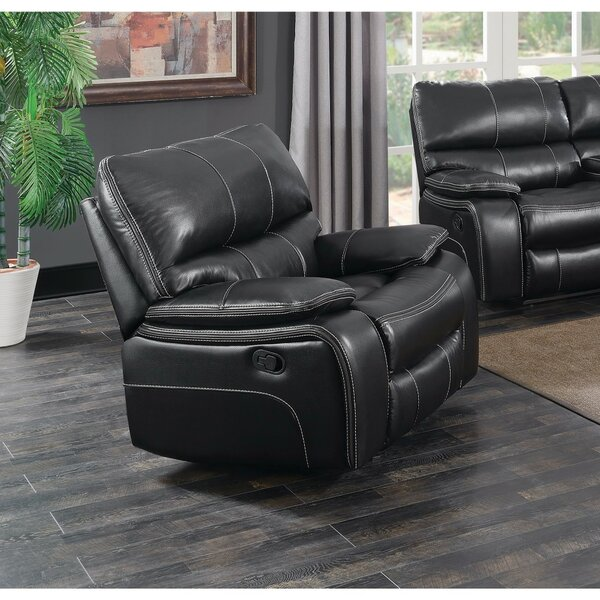 Amenta Faux Leather Glider Recliner BNZB5024