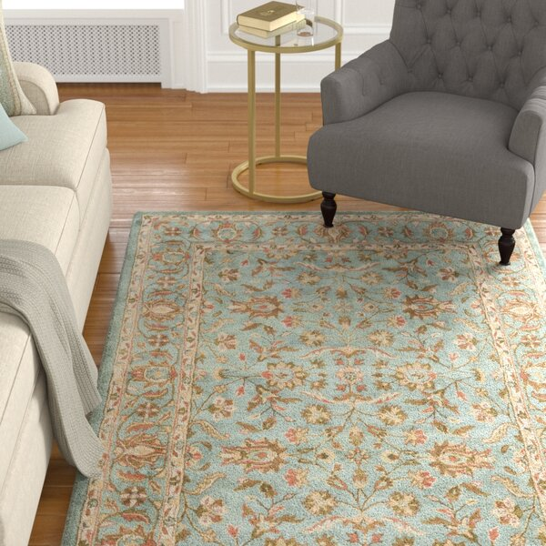 Cranmore Hand-Woven Wool Blue Area Rug by Charlton Home