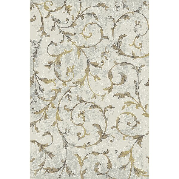 Lower West Side Cream/Yellow Area Rug by Winston Porter