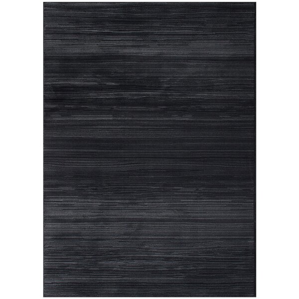 Ophelia Black Area Rug by Red Barrel Studio
