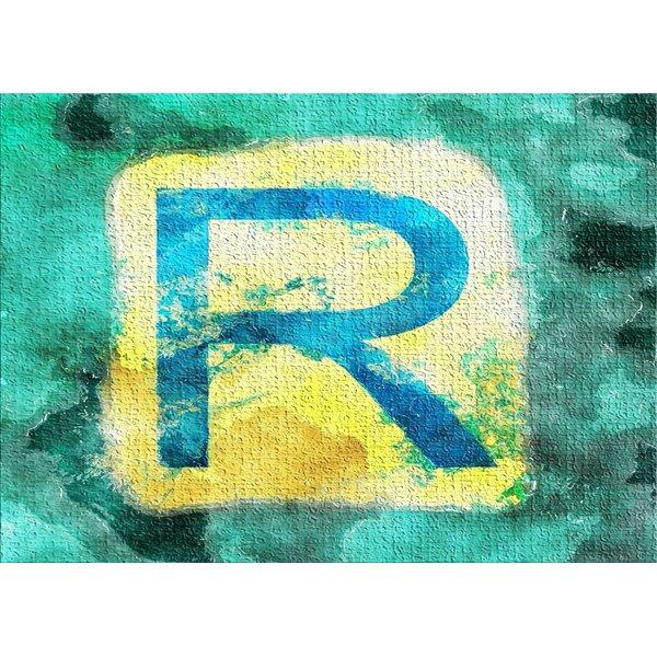 Watercolor Teal Area Rug