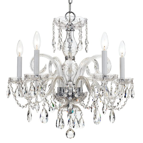 Careen 5-Light Glass Candle Style Chandelier by Willa Arlo Interiors