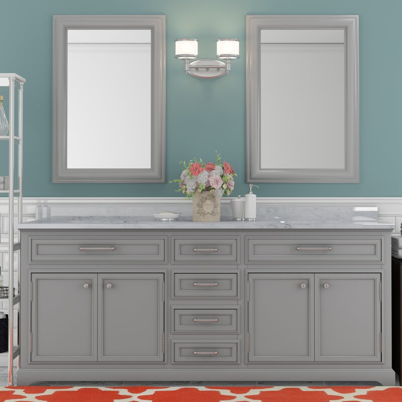 sink for bathroom vanity. Colchester 72  Double Sink Bathroom Vanity Set Grey Darby Home Co