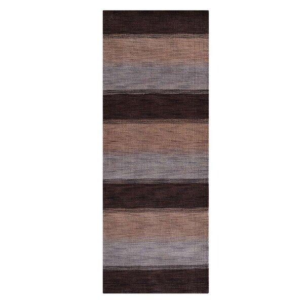 Ry Hand-Woven Wool Brown/Beige Area Rug by Latitude Run