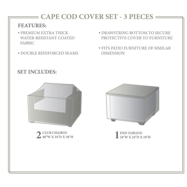 Cape Cod Winter 3 Piece Cover Set by TK Classics