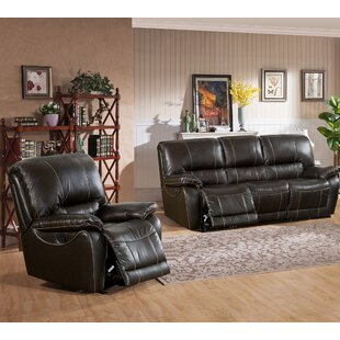 Walborn Reclining 2 Piece Leather Living Room Set Canora Grey