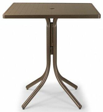 Aluminum Slat 36 Square Bar Table by Telescope Casual
