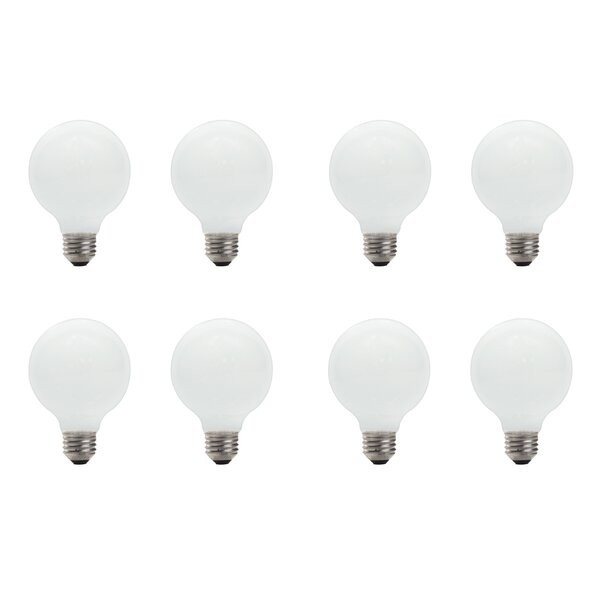 E26 Dimmable Halogen Globe Light Bulb (Set of 8) by Bulbrite Industries