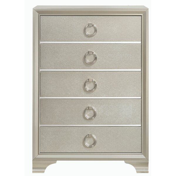 Trader Wooden 5 Drawer Chest by House of Hampton
