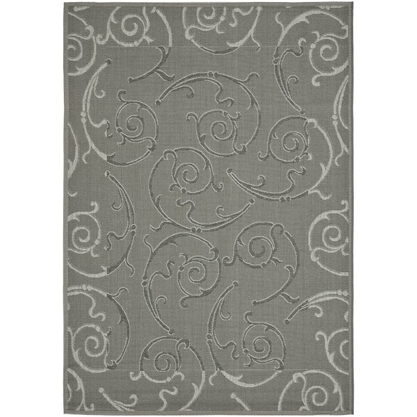 Herefordshire Anthracite/Light Gray Indoor/Outdoor Rug by Winston Porter