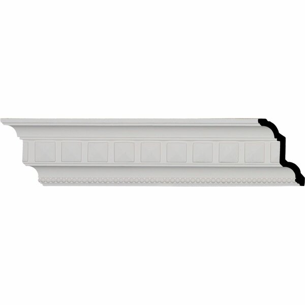 Swindon Egg and Dart 4 3/8H x 96W x 3D Crown Molding by Ekena Millwork