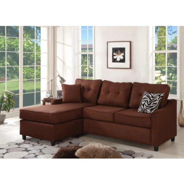 Perfect Shop Husman Reversible Modular Sectional with Ottoman by Ebern Designs by Ebern Designs