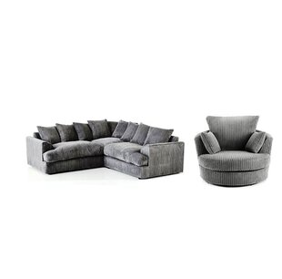 Valerie 4 Seater Corner Sofa With Swivel Chair By Castleton Home