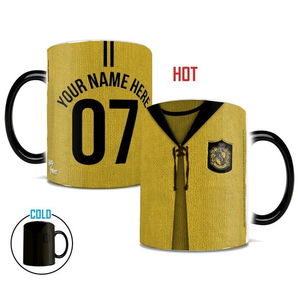 Harry Potter Hufflepuff Quidditch Personalize Coffee Mug by Morphing Mugs