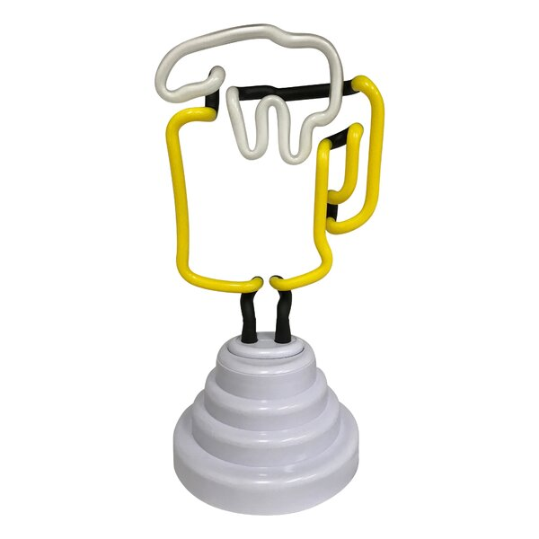 Battery-Operated Beer Mug LED Table Lamp by Winston Porter
