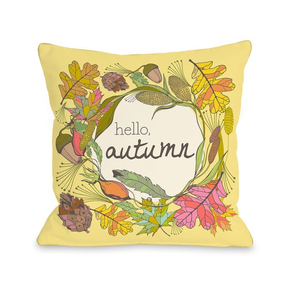 Hello Autumn Throw Pillow by One Bella Casa