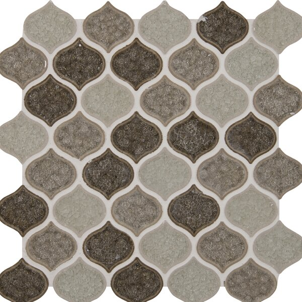 Taza Blend Lantern Glass Mosaic Tile in Brown by MSI