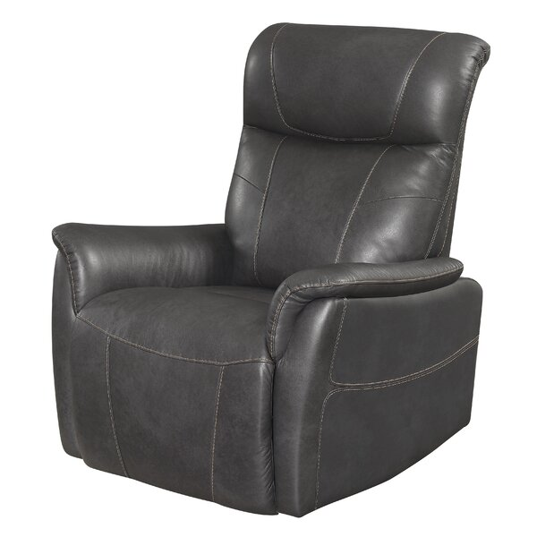 Wiegand Leather Manual Rocker Recliner