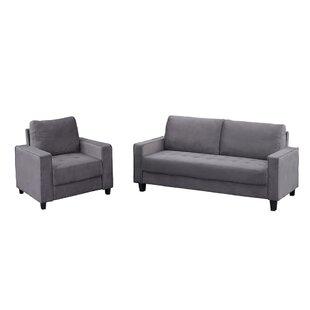 Hanneliese 2 Piece Velvet Living Room Set by Latitude Run®