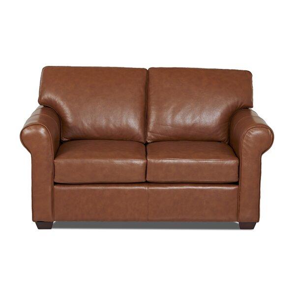 Rachel Leather Loveseat by Wayfair Custom Upholstery��