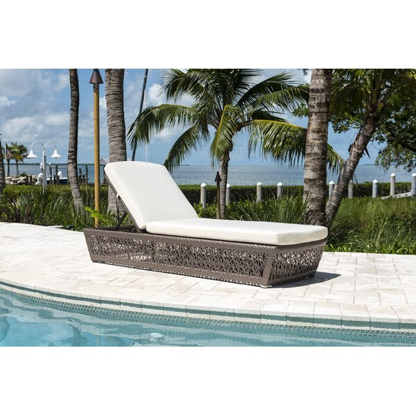 Maldives Reclining Chaise Lounge with Cushion by Panama Jack Outdoor
