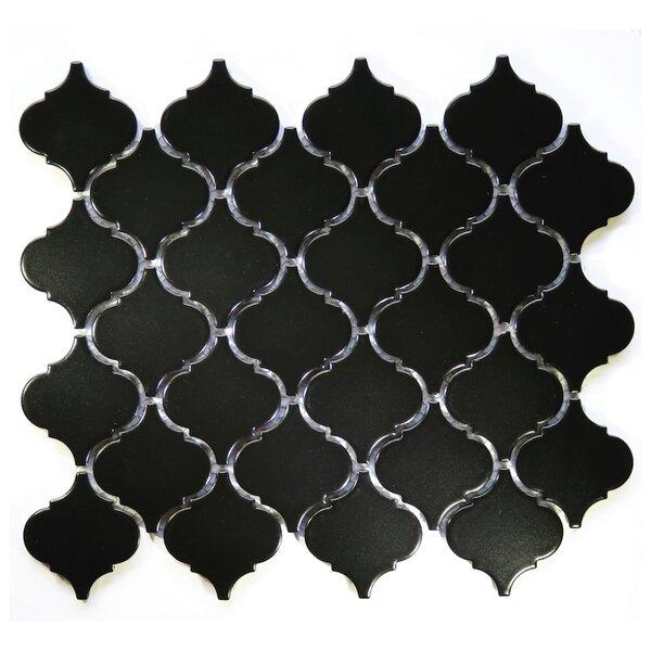 Arabesque 2 x 2 Ceramic Mosaic Tile in Black by NovoTileStudio