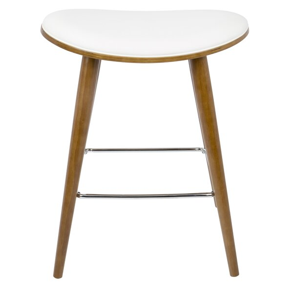 Kylie Saddle Fixed Base Counter 26 Bar Stool (Set of 2) by Langley Street