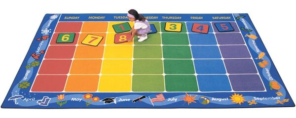 Theme Calendar Area Rug by Carpets for Kids