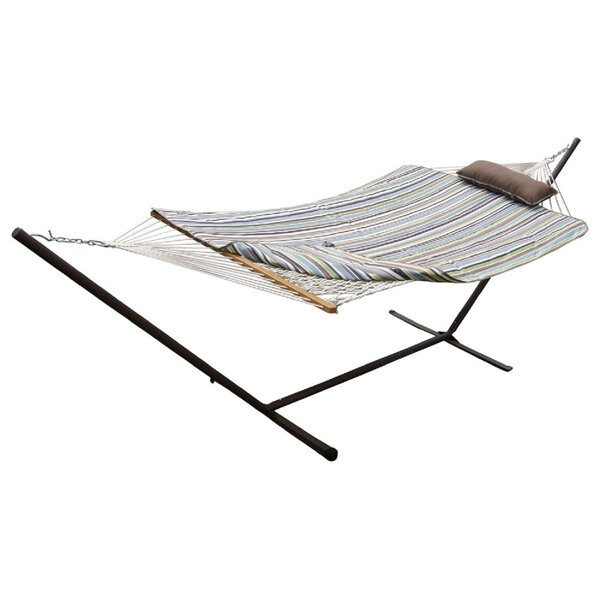 Mindi Cotton Hammock with Stand by Red Barrel Studio