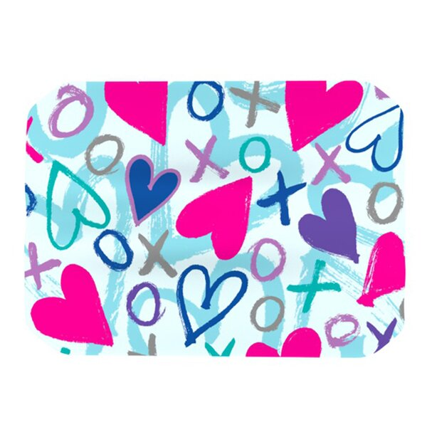 Hearts A Flutter Placemat by KESS InHouse