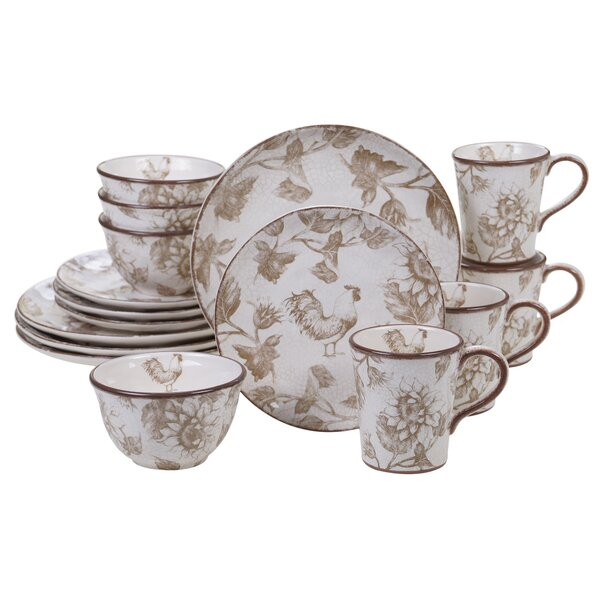 Willis Rooster 16 Piece Dinnerware Set, Service for 4 by August Grove
