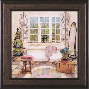 'Sunny Day Bath II' Framed Painting Print by Three Posts