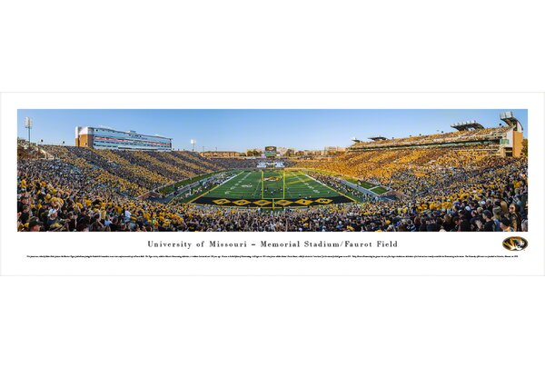 NCAA Missouri, University of - Football End Zone by Robert Pettit Photographic Print by Blakeway Worldwide Panoramas, Inc