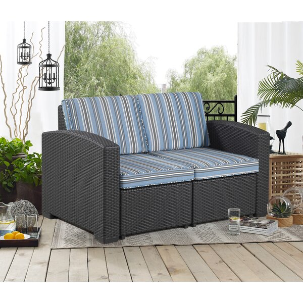 Blanchard Patio Loveseat with Cushions by Highland Dunes Highland Dunes