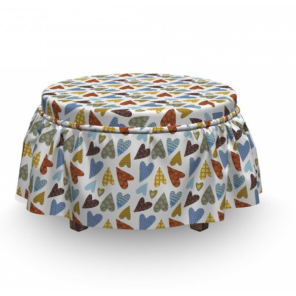 Patchwork Mosaic Ottoman Slipcover (Set Of 2) By East Urban Home