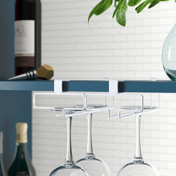 Canel Hanging Wine Glass Rack by Rebrilliant Rebrilliant