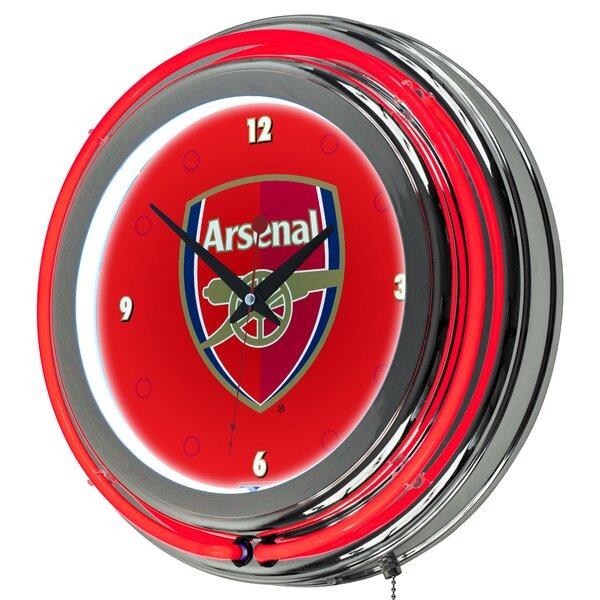 English Premier League Neon 14.5 Wall Clock by Trademark Global