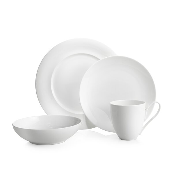 Skye 4 Piece Bone China Place Setting, Service for 1 by Nambe