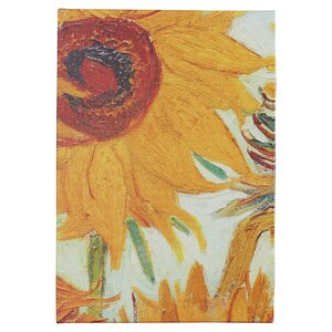 'Twelve Sunflowers (detail)' by Vincent van Gogh Textual Art by East Urban Home