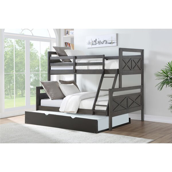 Collard Barn Twin Over Full Bunk Bed with Trundle by Harriet Bee